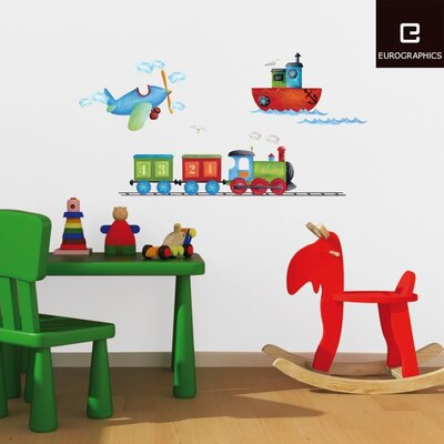 Eurographics Boats, Planes & Trains Wall Sticker