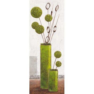 Eurographics Elegant Green Spheres Art Print by Karsten Kirchner Plaque