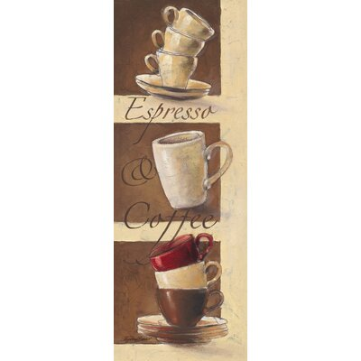 Eurographics Espresso and Coffee Graphic Art on Canvas