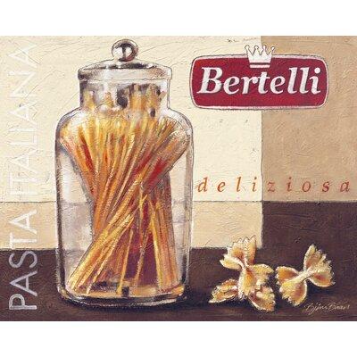 Eurographics Pasta Italiana Graphic Art on Canvas