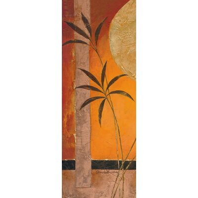 Eurographics Stretcher Bamboo Moon I Art Print on Canvas in Orange