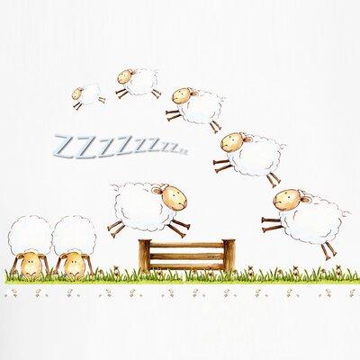 Eurographics Counting Sheep II Wall Sticker