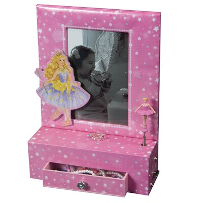 Tori Home Paige Girl's Musical Ballerina Photo Frame Jewelry Box