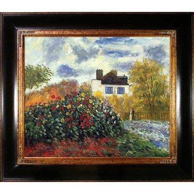 Tori Home The Artist's Garden by Claude Monet Framed Original Painting