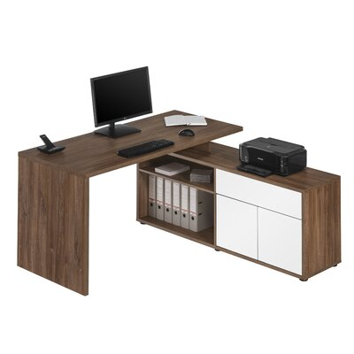 Maja Office Writing Desk with Filing Cabinet