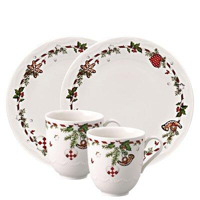 Hutschenreuther 4-tlg. Frühstücksset Weihnachtsleckereien aus Porzellan