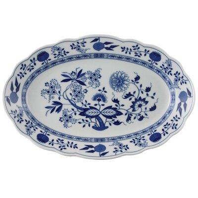 Hutschenreuther 38cm Platte oval Blau Zwiebelmuster