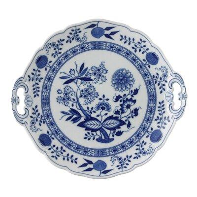 Hutschenreuther Kuchenplatte rund Blau Zwiebelmuster