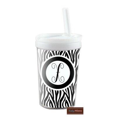 Zebra Kid's 8 oz. Plastic Travel Tumbler