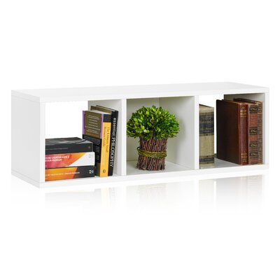 """Way Basics Cozy Bench 12.8"""" Eco 3-Cubby Storage Bench and Stackable Organizer"""