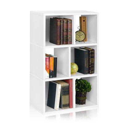 """Way Basics Laguna 36.8"""" Eco 3-Shelf Bookcase and Cubby Storage"""