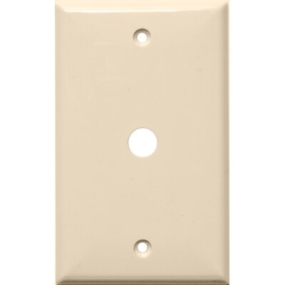 """Morris Products 1 Gang 0.41"""" Hole Lexan Cable Wall Plates in Almond"""
