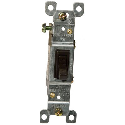 15A-120/277V 3 Way Toggle Switch in Brown