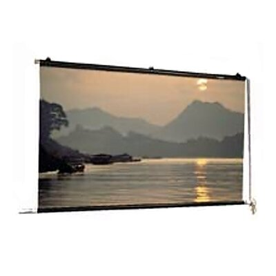 "Motorized Scenic Roller Matte White 30"" H x 30"" W Manual Projection Screen Size: Square 18' x 18'"