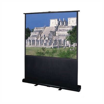 """Deluxe Insta-Theater Matte White Portable Projection Screen Viewing Area: 48"""" H x 64"""" W"""