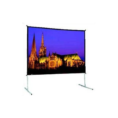 "Black Fixed Frame Projection Screen Size: 139"" x 139"""