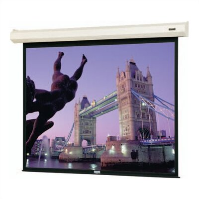 "Cosmopolitan Electrol Motorized Matte White Electric Projection Screen Viewing Area: 52"" H x 92"" W"