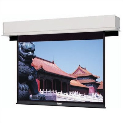 "Advantage Deluxe Electrol Matte White Electric Projection Screen Viewing Area: 50"" H x 67"" W"
