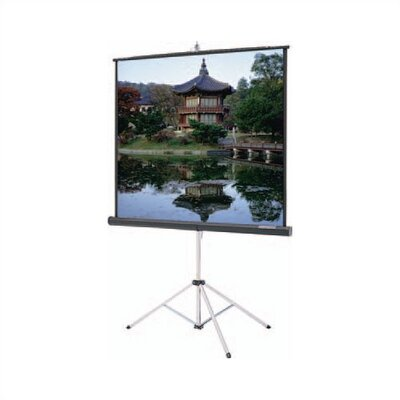 "Picture King Matte White Portable Projection Screen Viewing Area: 60"" H x 60"" W"