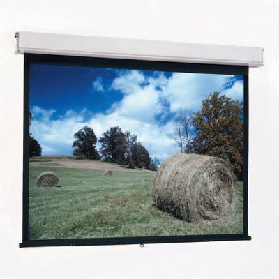 "Advantage Matte White Manual Projection Screen Viewing Area: 70"" H x 70"" W"