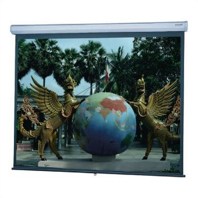 "Model C Matte White Manual Projection Screen Viewing Area: 52"" H x 92"" W"