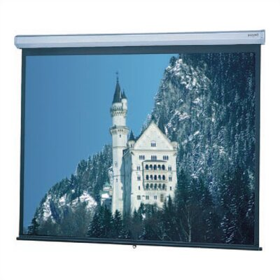 "Model C Matte White Manual Projection Screen Viewing Area: 84"" H x 84"" W"