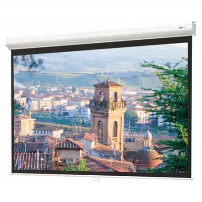 "Matte White Manual Projection Screen Viewing Area: 70"" H x 70"" W"