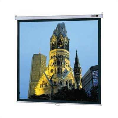 "Model B Matte White Manual Projection Screen Viewing Area: 69"" H x 92"" W"