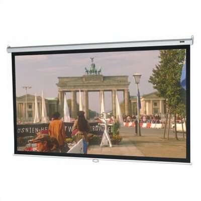 "Model B Matte White Manual Projection Screen Viewing Area: 50"" H x 50"" W"
