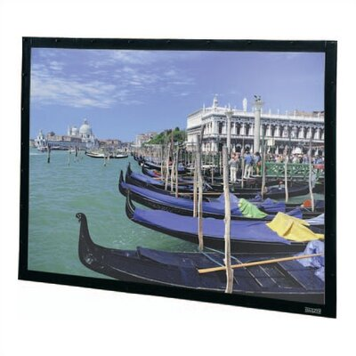 "Perm-Wall Fixed Frame Projection Screen Viewing Area: 52"" H x 92"" W"