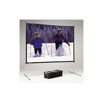 "Fast Fold Deluxe Black Portable Projection Screen Viewing Area: 116"" H x 116"" W"