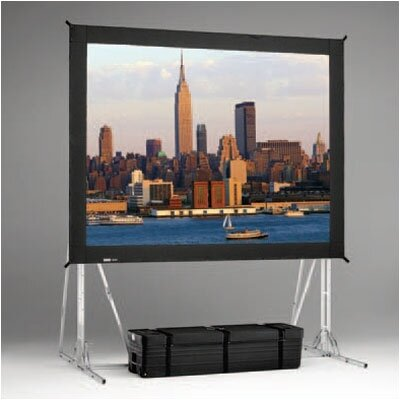 "Black Portable Projection Screen Viewing Area: 14'6"" H x 25' W"