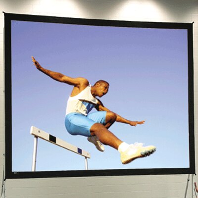 """Fast Fold Deluxe Portable Projection Screen Viewing Area: 10'6"""" H x 14' W"""