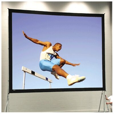 "Fast Fold Deluxe 108"" H x 144"" W Portable Projection Screen"
