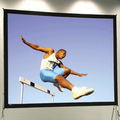 """Black Portable Projection Screen Viewing Area: 10'6"""" H x 14' W"""