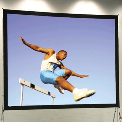"Black Portable Projection Screen Viewing Area: 11'6"" H x 19'8"" W"