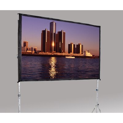 """Fast Fold Deluxe 126"""" H x 168"""" W Portable Projection Screen"""