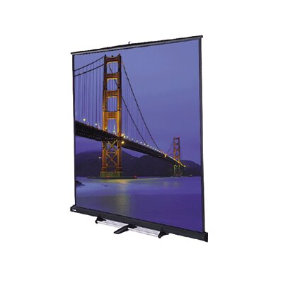 "Model C Matte White 150"" Portable Projection Screen"