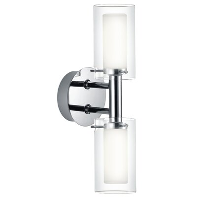 Eglo Palermo 2 Light Semi-Flush Wall Light