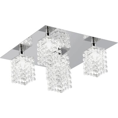 Eglo Pyton 5 Light Semi-Flush Ceiling Light