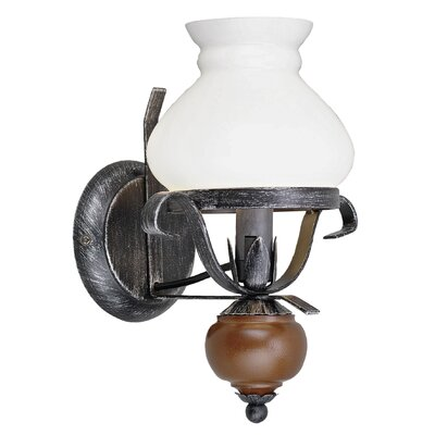 Eglo Rustic 1 Light Semi-Flush Wall Light