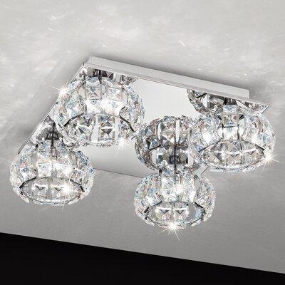 Eglo Corliano 4 Light Semi Flush Ceiling Light
