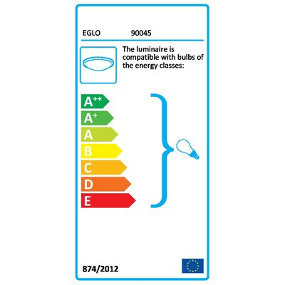 Eglo Scalea 2 Light Flush Wall/Ceiling Light