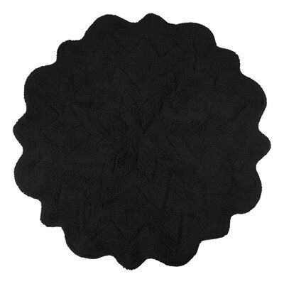 Over Tufted Petals Bath Rug Color: Black