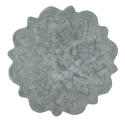 Over Tufted Petals Bath Rug Color: Gray