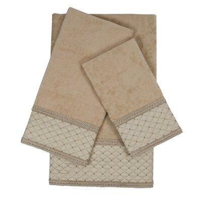 Kinzie Gimp 3 Piece 100% Cotton Towel Set