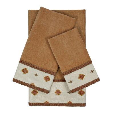Halifax 3 Piece 100% Cotton Towel Set Color: Beige
