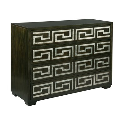 Egyptian 4 Drawer Accent Chest