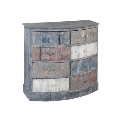 Bow Front 8 Drawer Accent Chest