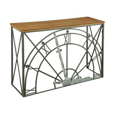 Clock Dial Console Table
